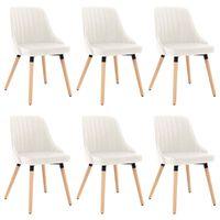 vidaXL spisebordsstole 6 stk. fløjl cremefarvet