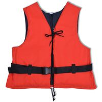 vidaXL svømmevest 50 N 50-70 kg rød