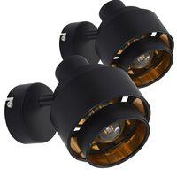 vidaXL spotlamper 2 stk. E14 sort