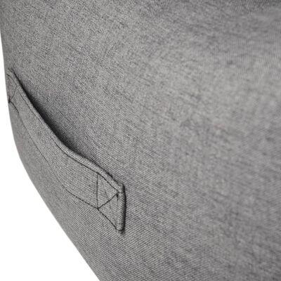 FLAMINGO hundekurv med lynlås Dream Away 70x50 cm grå