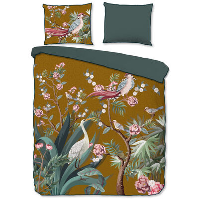 Descanso sengetøj SARENZA 200x200/220 cm okkerfarvet