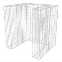 vidaXL gabionafskærmning til affaldsbeholder 110x100x120 cm stål