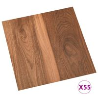 vidaXL selvklæbende gulvbrædder 55 stk. 5,11 m² PVC brun