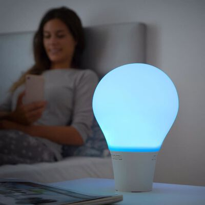 LED-lampe med Højttaler - Silitone
