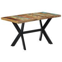 vidaXL spisebord 140x70x75 cm massivt genbrugstræ