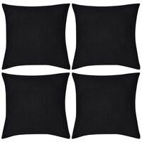 4 sorte pudebetræk i bomuld 40 x 40 cm