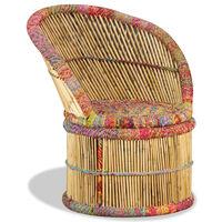 vidaXL bambusstol med chindi-detaljer