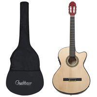 vidaXL western-guitarsæt 12 dele med equalizer og 6 strenge