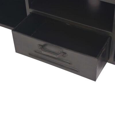 vidaXL tv-skab 120 x 30 x 43 cm sort