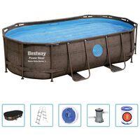 Bestway Power Steel swimmingpoolsæt 427x250x100 cm