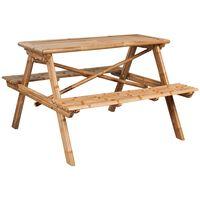 vidaXL picnicbord bambus 120 x 120 x 78 cm
