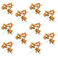 vidaXL kunstige vindrueblade 10 stk. 70 cm rød