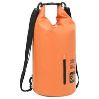 vidaXL vandtæt tørpose m. lynlås 30 l PVC orange