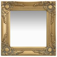 vidaXL vægspejl barokstil 40x40 cm guldfarvet