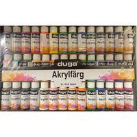 Duga Malingsæt Akryl 42 Farver