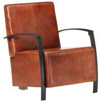 vidaXL lænestol ægte læder brun