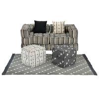 vidaXL modulært sofasæt i 9 dele stof striber