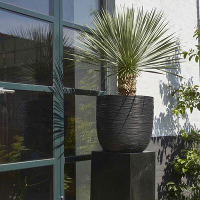 Capi plantekrukke Nature Rib 35 x 34 cm sort KBLR932