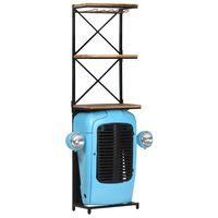 vidaXL vinreol med traktordel 49x31x170 cm massivt mangotræ blå