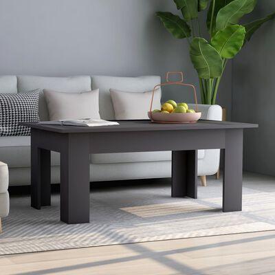 vidaXL sofabord 100 x 60 x 42 cm spånplade grå