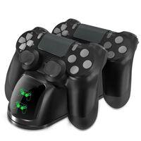 Dobbelt ladestation til to PS4 / PS4 Slim / PS4 Pro-kontroller