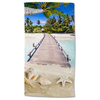 Good Morning badehåndklæde MOANA 100x180 cm flerfarvet