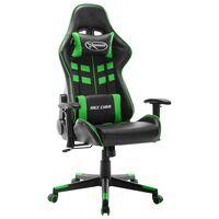vidaXL gamingstol kunstlæder sort og grøn