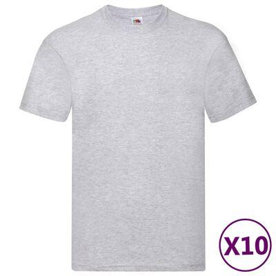 Fruit of the Loom originale T-shirts 10 stk. str. L bomuld grå