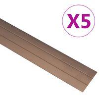 vidaXL 5 stk. gulvlister 100 cm aluminium brun