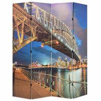 vidaXL foldbar rumdeler 160 x 170 cm Sydney Harbour Bridge