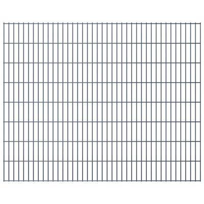 vidaXL 2D gabionhegn galvaniseret stål 2,008x1,63 m 2 m grå