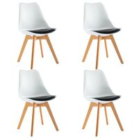 vidaXL spisebordsstole 4 stk. kunstlæder hvid og sort
