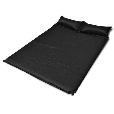 vidaXL selv-oppusteligt liggeunderlag 190 x 130 x 5 cm (dobbelt) sort