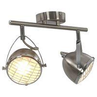 vidaXL 2-vejs spotlampe GU10 sølvfarvet