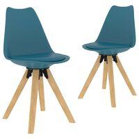 vidaXL spisebordsstole 2 stk. turkis