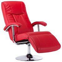 vidaXL lænestol rød kunstlæder