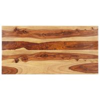 vidaXL bordplade 25-27 mm 60x140 cm massivt sheeshamtræ